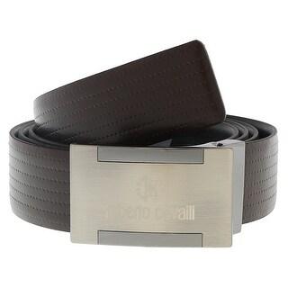 "Roberto Cavalli FSC107 D1168 Brown Mens Belt Buckle Adjustable-Trim to fit - 28"" to 40"" Waist Adjustable"