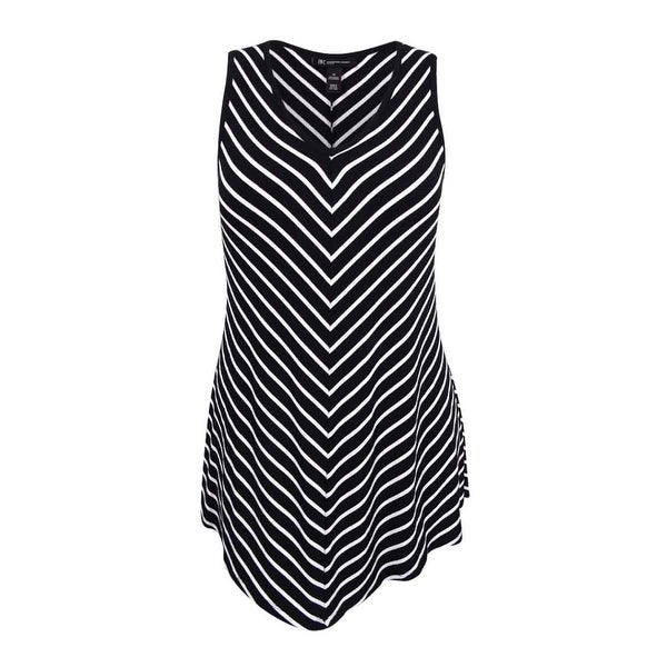 ba1b07afe132e Shop INC International Concepts Women s Plus Size Striped Sleeveless Top -  Black White Stripe - Free Shipping On Orders Over  45 - Overstock.com -  17018958