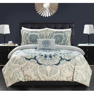 Chic Home Amina 8 Piece Reversible Paisley Print Comforter Set