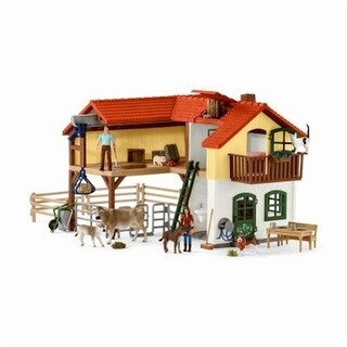 Schleich North America 241052 Large Farm House Toy for Ages 3 & Up