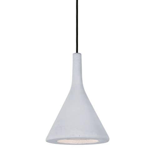 Besa Lighting 1JT-GALAWH-LED Gala Single Light LED Mini Pendant with White Concrete Shade