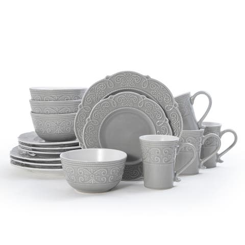Pfaltzgraff Abby Gray 16 piece Dinnerware Set (Service for 4)