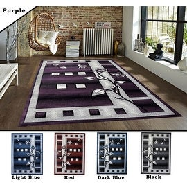 2x7.2 5.3x7.2 8x10 Feet Rug Carpet Area Rug Purple Blue Red Black Polyester Modern Contemporary 3 Dimensional Hand Carved