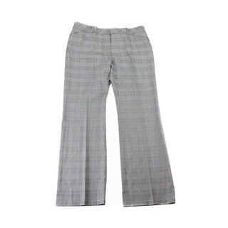 Anne Klein Onyx Glen-Plaid Trousers 16
