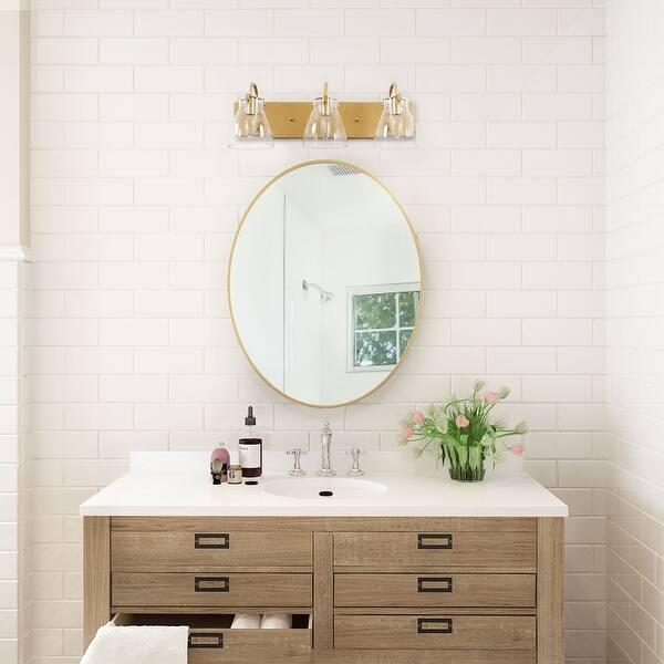 HUESLITE 3-Light Bathroom Vanity Light Black,3-Light Black Modern Metal Wall Light Fixture for Bathroom Lighting