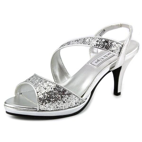 Touch Ups by Benjamin Walk Reagan Women Open-Toe Synthetic Silver Slingback Heel
