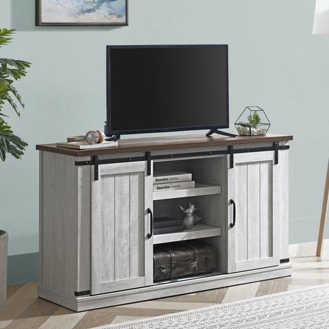 54-in Barn-Door TV Stand for TVs up to 60 inches
