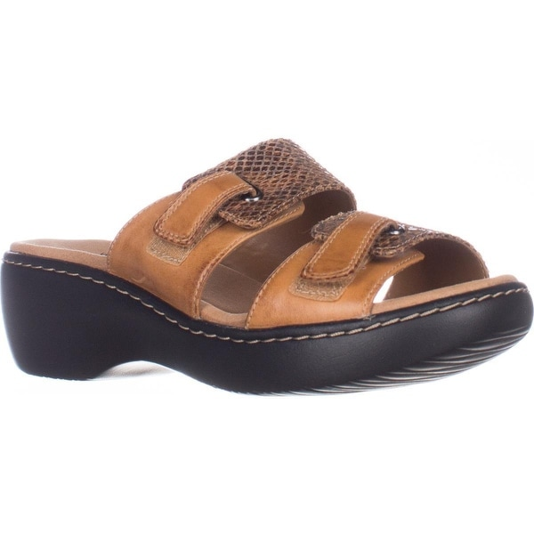 e0e901474824 Shop Clarks Delana Fenela Comfort Wedge Sandals