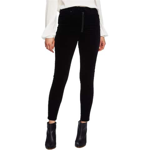 1.State Womens Exposed Zipper Casual Corduroy Pants