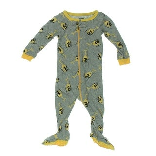 Leveret Helicopter Footed Pajamas Heathered Infant - 6-12 mo
