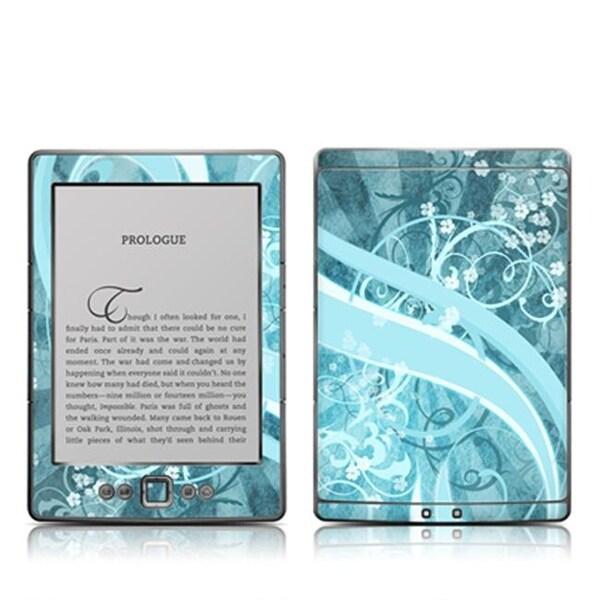 DecalGirl AK4-FLOR-BLU Kindle 4 Skin - Flores Agua