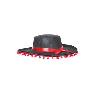 Underwraps Spanish Hat - Black/red