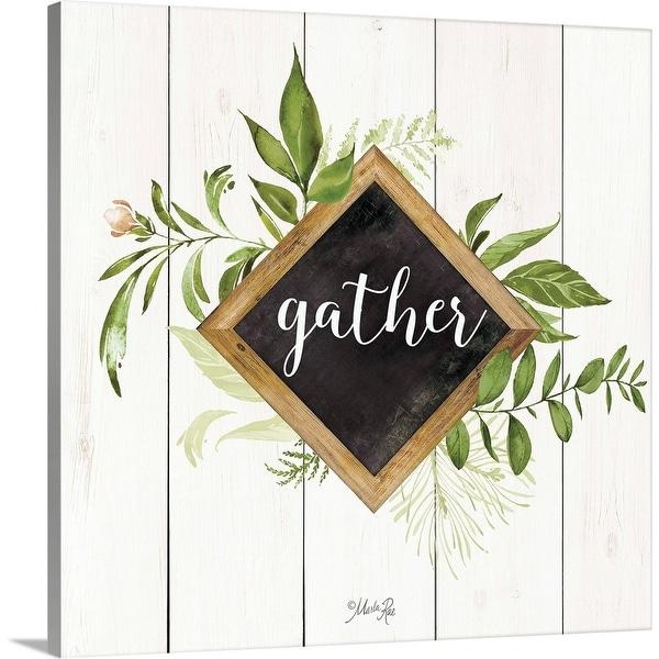 """Gather Greenery"" Canvas Wall Art"