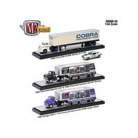 Auto Haulers Release 24, 3 Trucks Set 1/64 Diecast Models by M2 Machines