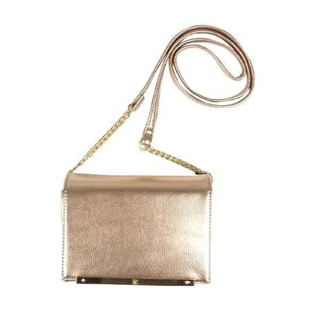 INC International Concepts Women's Metallic Mini Crossbody (OS, Rose Gold) - Rose Gold - One Size Fits Most