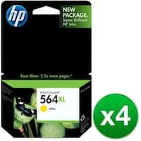 HP 564XL High Yield Yellow Original Ink Cartridge (CB325WN)(4-Pack)