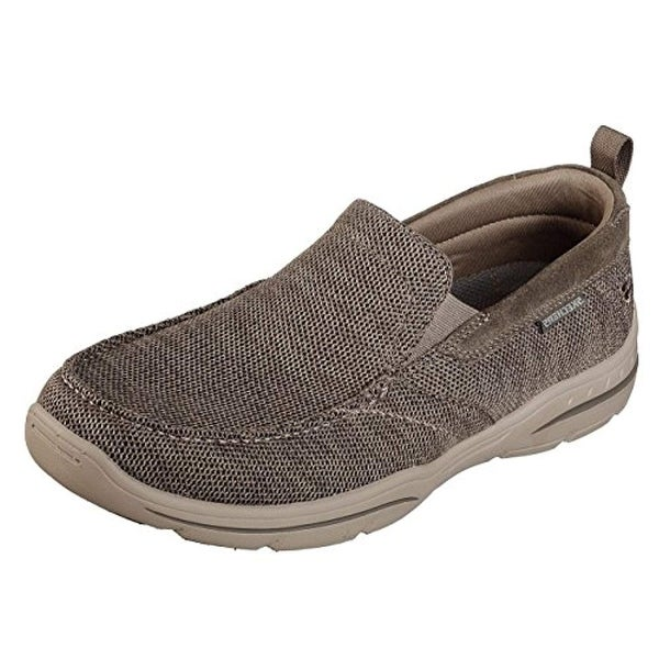 Skechers 65626 Men's Relaxed Fit Harper Deren Sneaker, Taupe 12 D(M) Us
