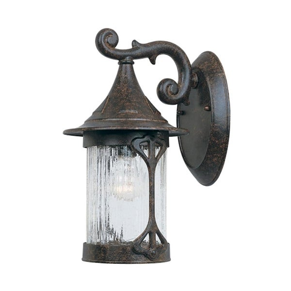 """Designers Fountain 20911-CHN 1-Light 7"""" Cast Aluminum Wall Lantern from the Canyon Lake Collection - chestnut - n/a"""