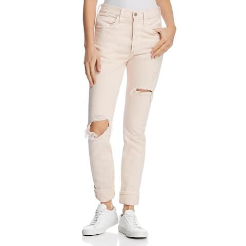 Levi's Womens 501 Skinny Jeans Destroyed Colored