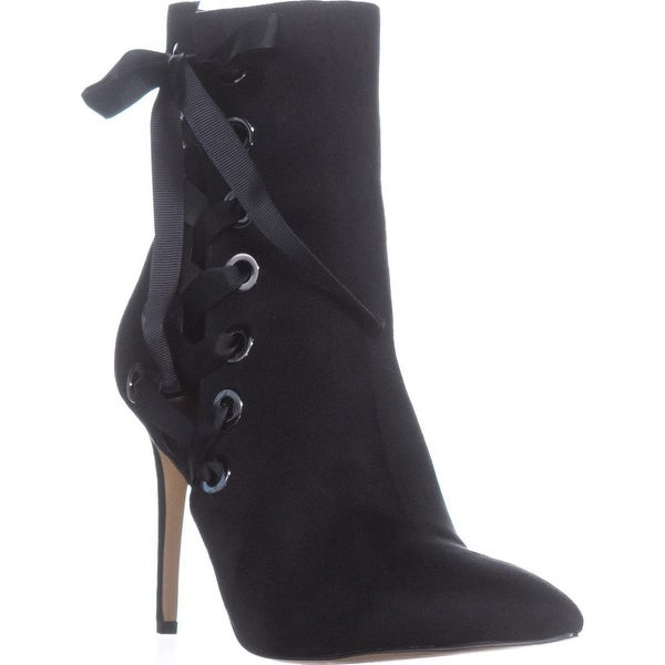 Daya by Zendaya Nancey Lace Tie Ankle Boots, Black - 8 us