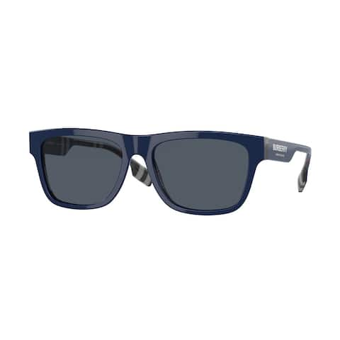 Burberry BE4293F 395987 56 Top Blue On Navy Check Man Square Sunglasses