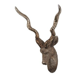 Sterling Industries 93-19378 Antelope Head Wall D?cor - silver leaf