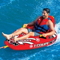 WOW Sports 1 Person Coupe Cockpit Towable Water Tube and Lounge Chair (15-1020)