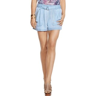 Two by Vince Camuto Womens Casual Shorts Chambray Belted