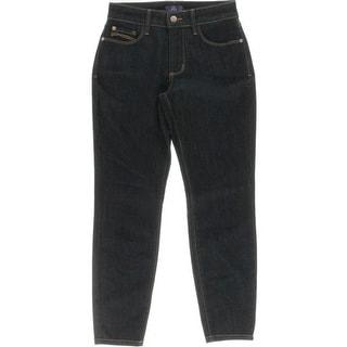 NYDJ Womens Petites Denim Lift Tuck Technology Ankle Jeans - 0p