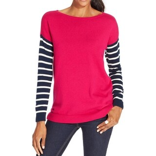 American Living Womens Pullover Sweater Knit Striped - m