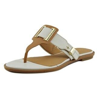 Calvin Klein Ula Women Open Toe Leather Thong Sandal