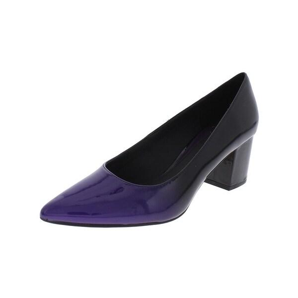 Brian Atwood Womens Kacie Block Heels Ombre Almond Toe Purple 9 Medium (B,M) - 9 medium (b,m)