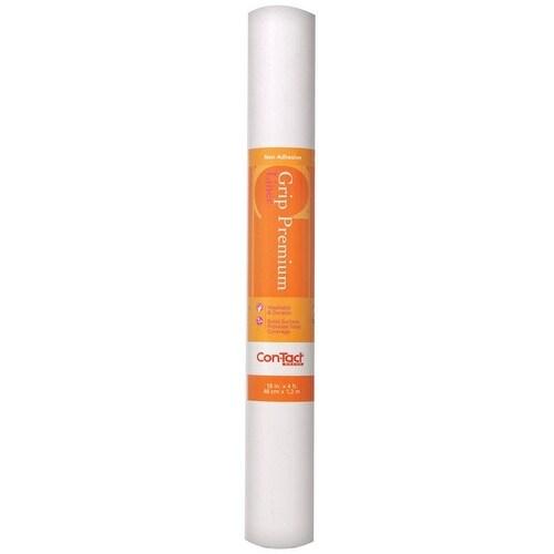 "Con-Tact 04F-C6U52-06 Grip Premium Solid Non-Adhesive Shelf Liner, 18"" x 4'"