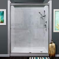 "Miseno MSDC6076 Azul 76"" High x 60"" Wide Frameless Sliding Shower Door with Clea"