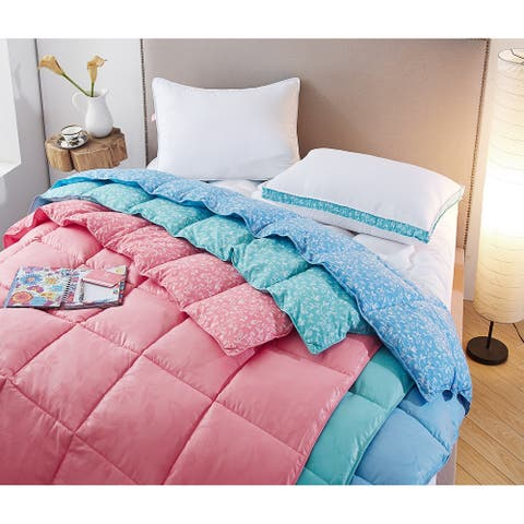 Collier Campbell Bird on a Branch Year-Round Down Alternative Comforter Set, Flamingo Pink, Twin