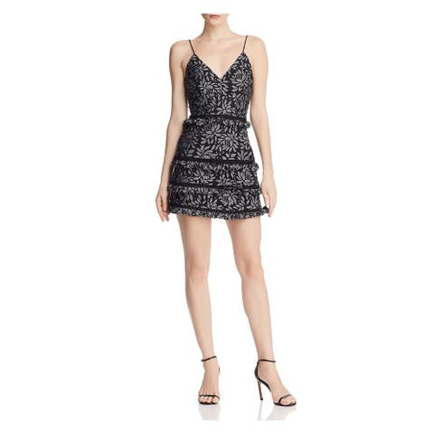 KEEPSAKE Black Spaghetti Strap Mini Dress 0\2