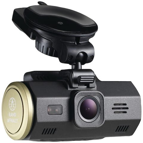 Rand McNally DashCam 300 Dash Camera w/ G Sensor Automatically Saves Videos of Collisions - Black