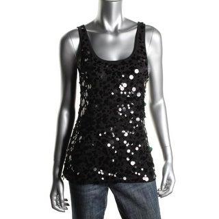 DKNY Womens Cotton Paillettes Tank Top - S