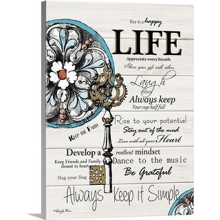 """Life"" Canvas Wall Art"