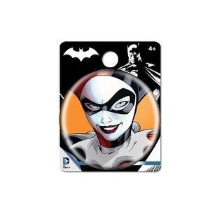 """DC Comics 1.5"""" Button: """"Harley Quinn"""" - Orange"""