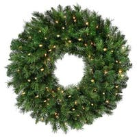 "New Zealand Pine Wreath 30"" 240 Tips-Two-Tone Green"