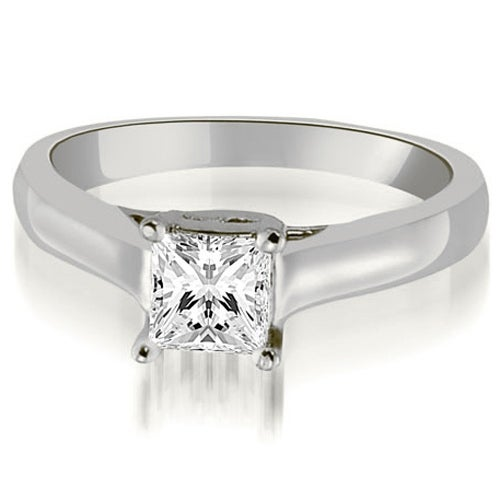 0.50 cttw. 14K White Gold Classic Princess Cut Lucida Diamond Engagement Ring