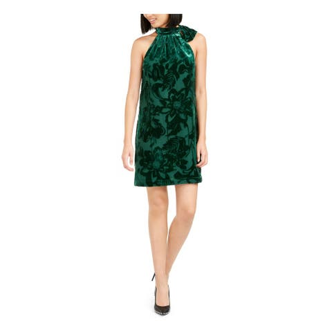 TRINA TURK Green Sleeveless Above The Knee Dress L