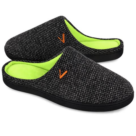 VONMAY Men's Slippers Two-Tone Cozy House Shoes