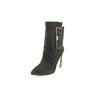 Via Spiga Wright Women Pointed Toe Suede Black Ankle Boot