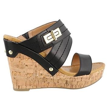 b83323ef7724 Shop Tommy Hilfiger Womens Mili2 Open Toe Wedge Pumps - Free ...