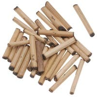 Natural Wood Bamboo Sleek Tube Beads 21mm x 3.5mm (100 loose beads)
