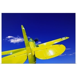 """""""Small yellow airplane"""" Poster Print"""