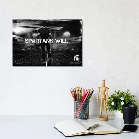 """iCanvas """"MSU Spartans Game Day Stadium Spartans Will"""" by Michigan State University ® Canvas Print"""