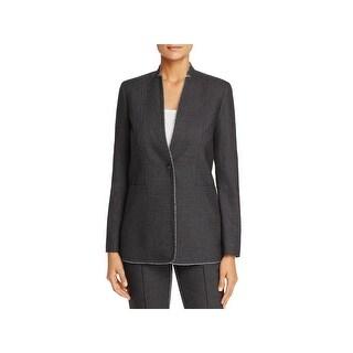 T Tahari Womens Bowen One-Button Blazer Office Wear Lightweight